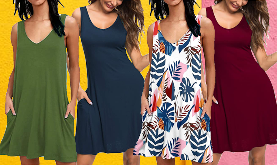 Depending on the look you want, you can go looser for a cool, laid-back look or tighter to show off those curves.(Photo: Amazon)