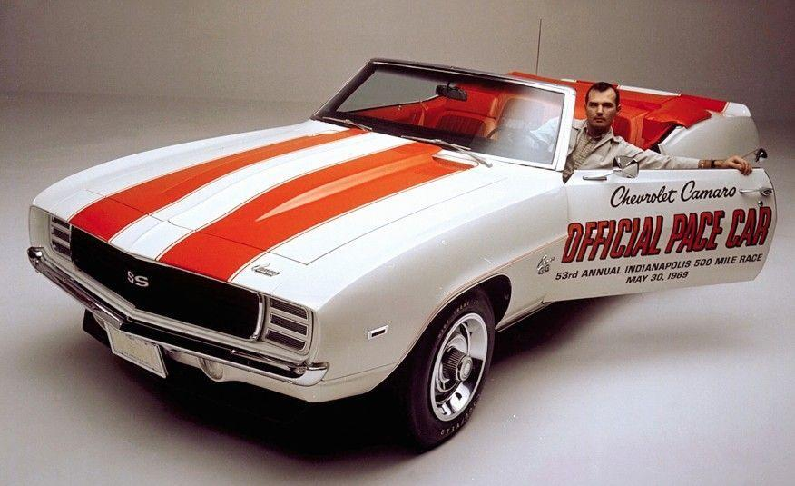 """<p>Structurally, the 1969 Camaro was little different from the first two editions. But the bodywork was more voluptuous and slightly provocative. For the second time, a Camaro paced the Indianapolis 500, and this time Chevrolet produced 3675 replicas of this """"Z11"""" convertible with its signature orange houndstooth upholstery. Fully loaded, these Z11s included both the RS and SS packages, plus the new-for-'69 """"ZL2"""" cowl-Induction hood.</p>"""