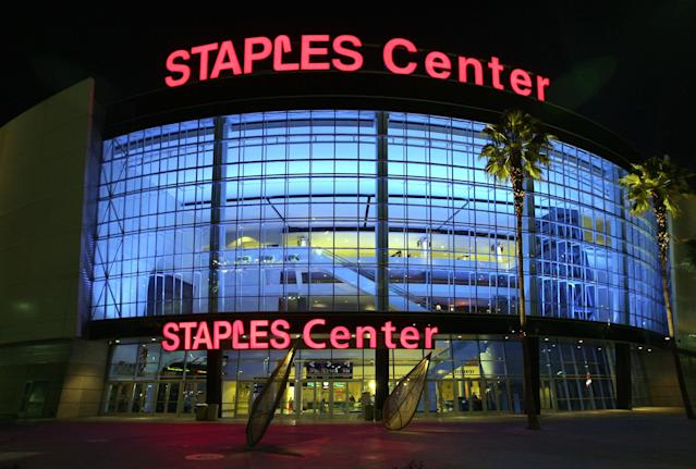 The Staples Center played host to two of the five games in Los Angeles on Sunday. (Getty Images)