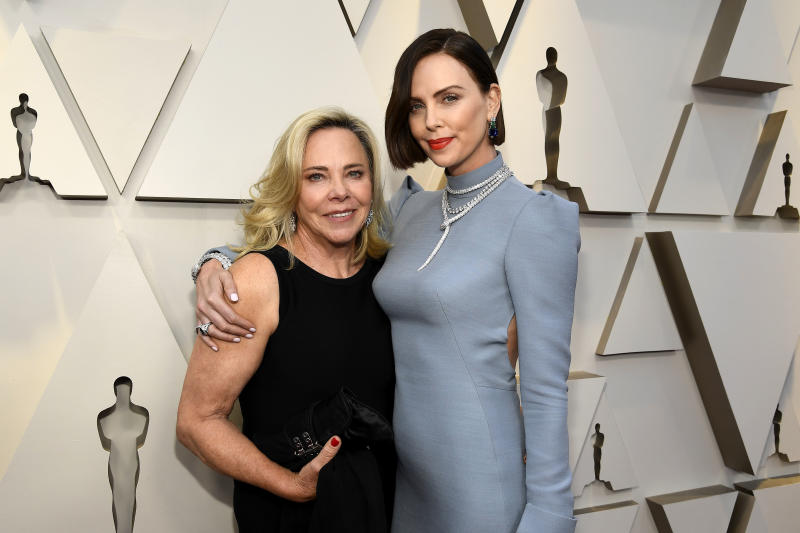 Gerda Moritz and Charlize Theron attend the 91st Annual Academy Awards at Hollywood and Highland on February 24, 2019 in Hollywood, California.