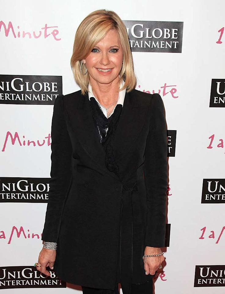 """One of Australia's most famous citizens, Olivia Newton-John is known for both her role in the movie musical """"Grease,"""" and for her worldwide hit songs such as """"Physical"""" and """"I Honestly Love You."""" Angela Weiss/<a href=""""http://www.gettyimages.com/"""" target=""""new"""">GettyImages.com</a> - October 6, 2010"""