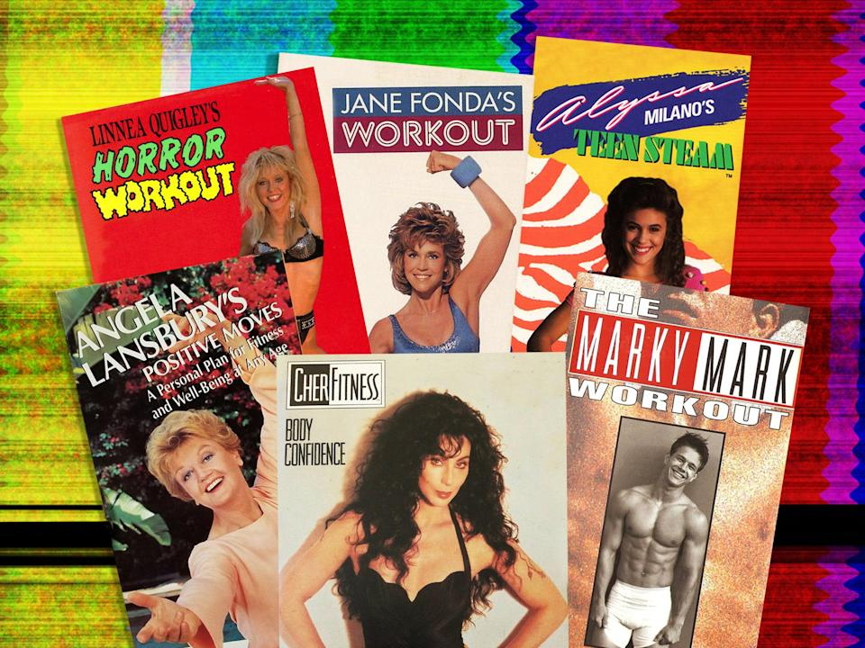Camp genius: Vintage workout videos by Angela Lansbury, Linnea Quigley, Cher, Jane Fonda, Alyssa Milano and Mark Wahlberg