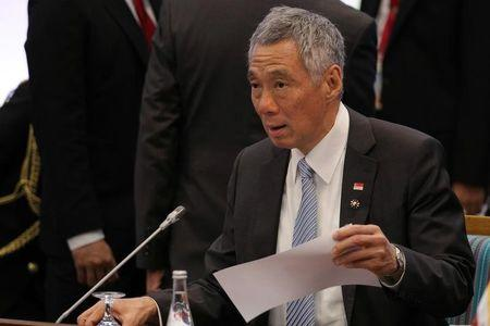 Singapore's PM Lee attends the opening session of the 31st ASEAN Summit in Manila, Prime Minister Lee Hsien Loong attends the opening session of the 31st ASEAN Summit in Manila