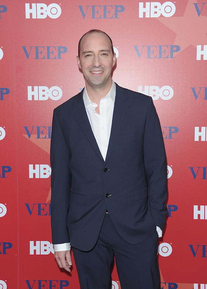 "Tony Hale attends HBO's screening of ""<a href=""http://tv.yahoo.com/veep/show/47343"">Veep</a>"" on April 10, 2012 in New York City."