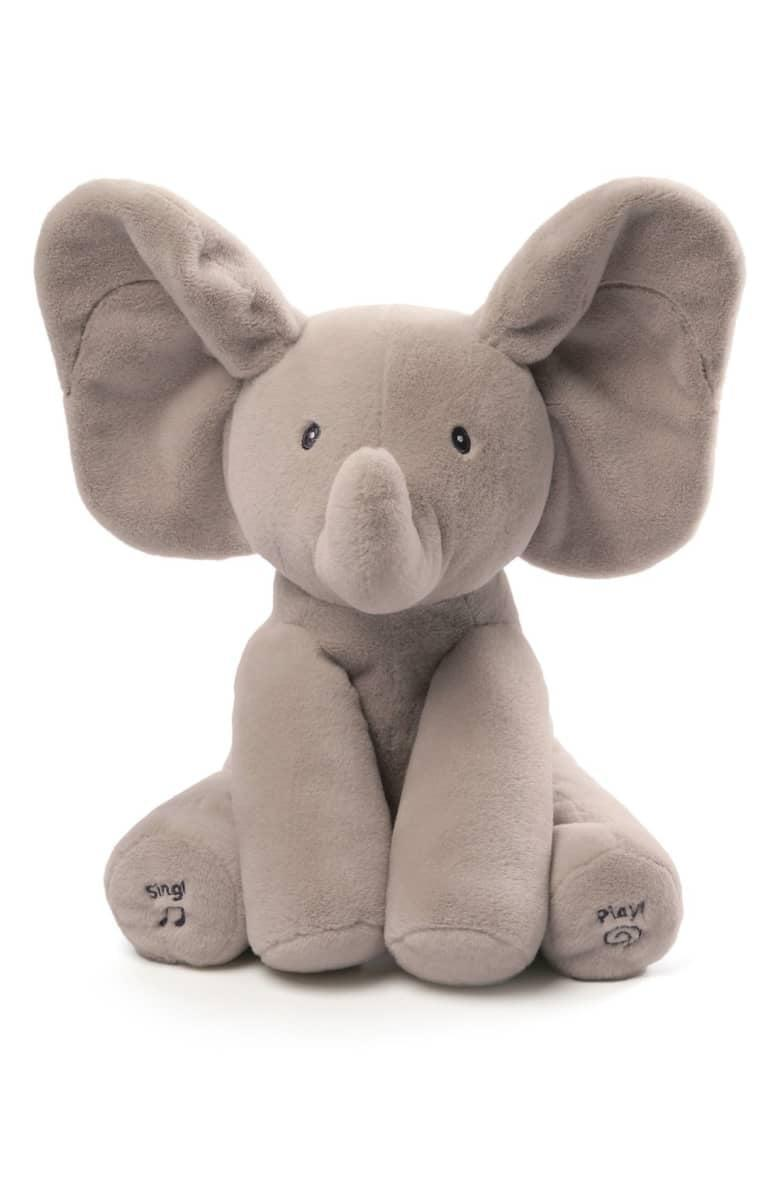 """<p>Infants will love to dance and play with this <span>Baby Gund """"Flappy the Elephant"""" Musical Elephant</span> ($40).</p>"""