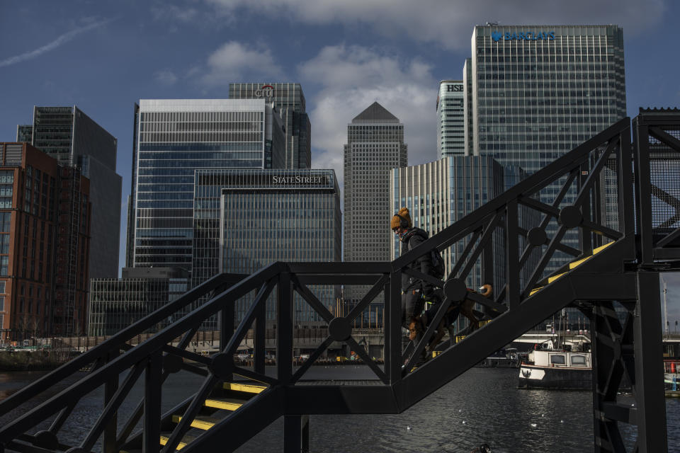 London's Canary Wharf business district. Photo: Dan Kitwood/Getty Images