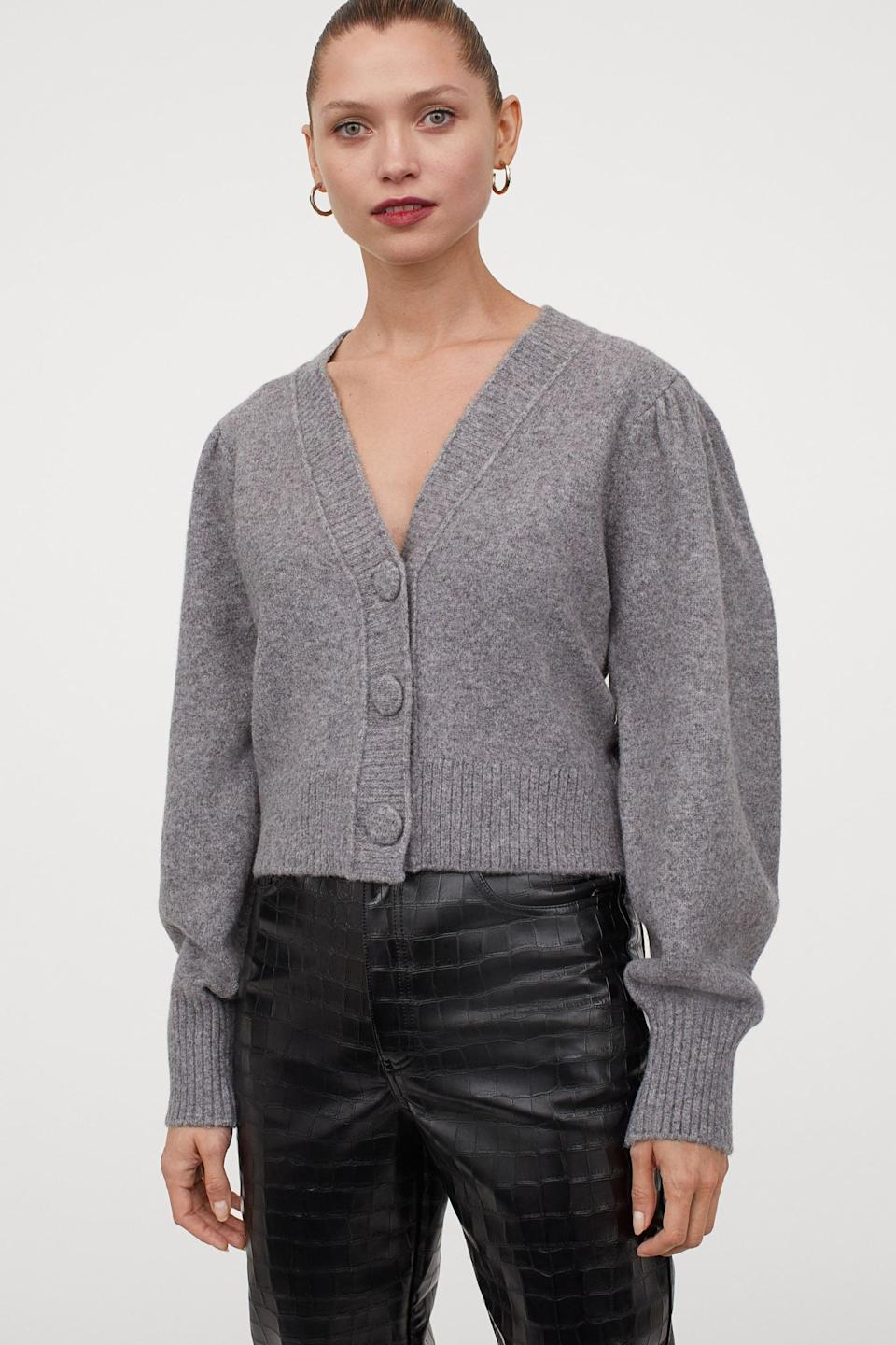 <p>This <span>Wool-Blend Cardigan</span> ($70) makes a comfortable yet put-together travel piece.</p>