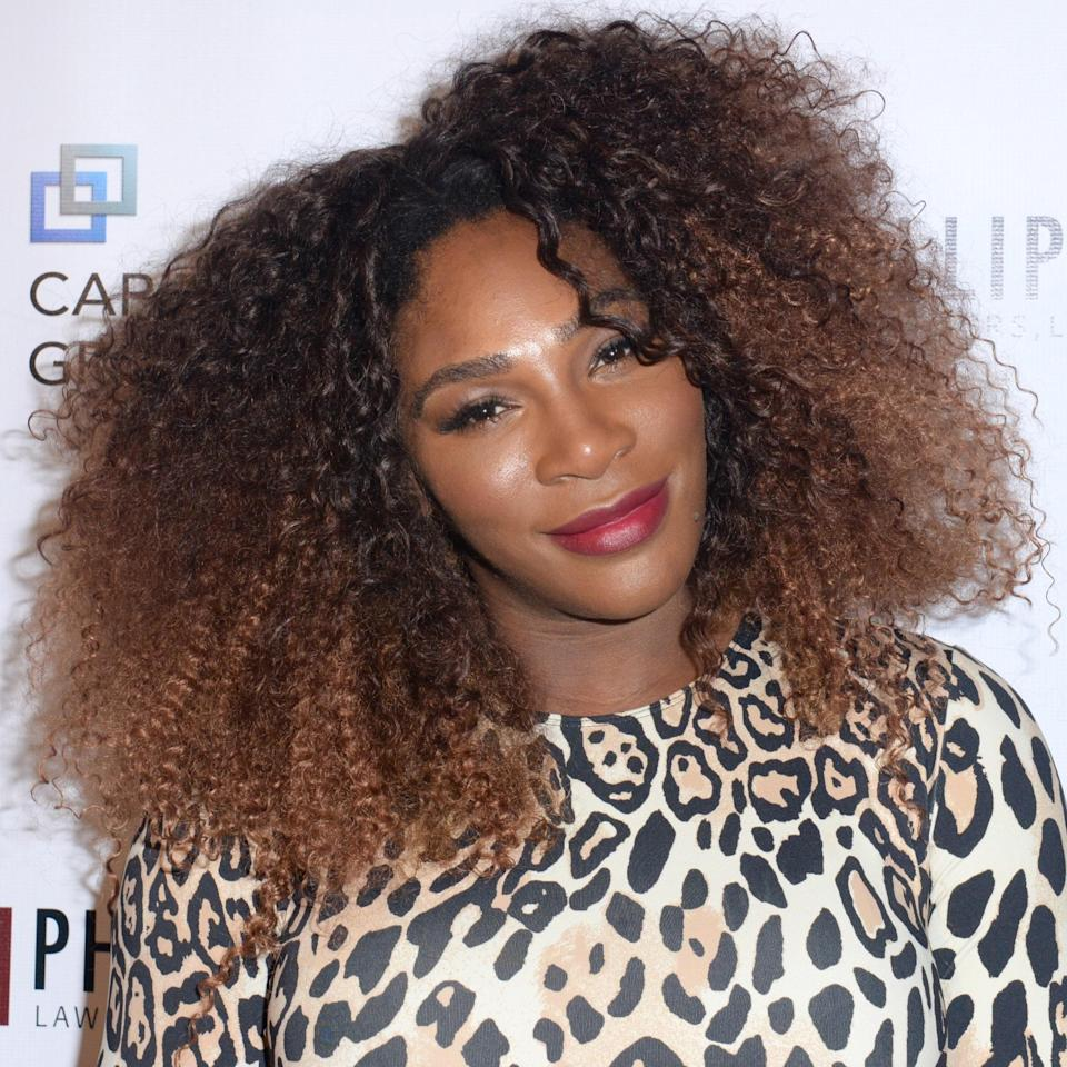 """A lion's mane haircut like the one Serena Williams has here is absolute goals. """"It works really well for volume and complements the curls because of the shape,"""" says Kimble, who notes this haircut is layered on top and long on the bottom. It's most fitting for type 3A to 4C hair. Just keep in mind: """"Don't make the layers too short or else it will look like a mullet."""""""