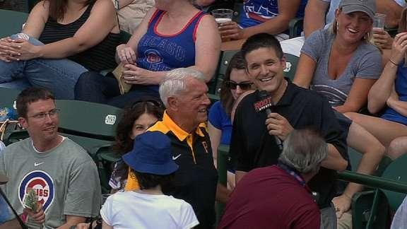 Wrigley Field usher interrupts TV interview with Clint Hurdle's father