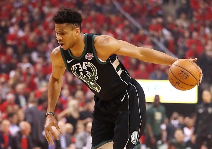 The reigning MVP, Giannis Antetokounmpo, is for many the No.1 pick in fantasy this season. (Photo by Gregory Shamus/Getty Images)
