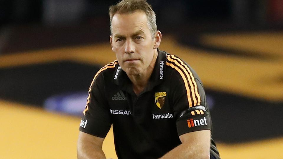 Alastair Clarkson, pictured here during Hawthorn's clash with North Melbourne in the AFL.