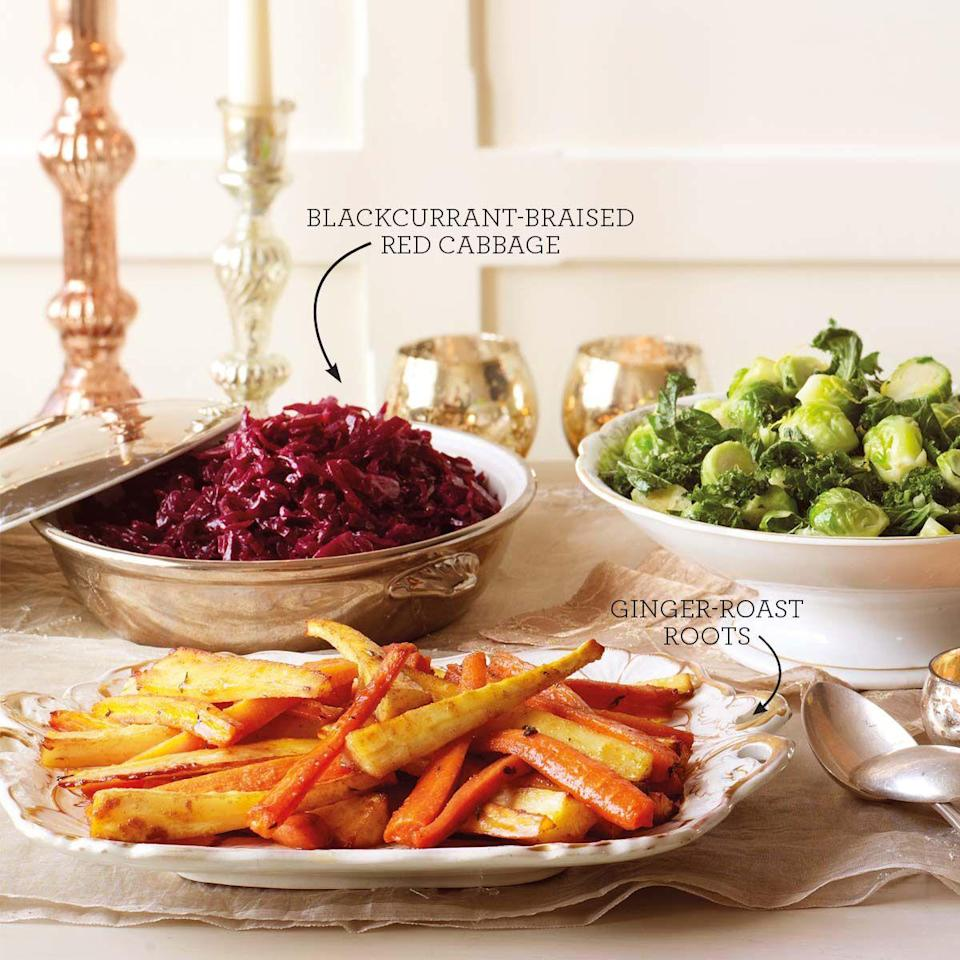 "<p>Braising red cabbage in Ribena adds sweetness to balance the cider vinegar.</p><p><strong>Recipe: <a href=""https://www.goodhousekeeping.com/uk/christmas/christmas-recipes/a551195/blackcurrant-braised-red-cabbage/"" rel=""nofollow noopener"" target=""_blank"" data-ylk=""slk:Blackcurrant braised red cabbage"" class=""link rapid-noclick-resp"">Blackcurrant braised red cabbage</a></strong></p>"