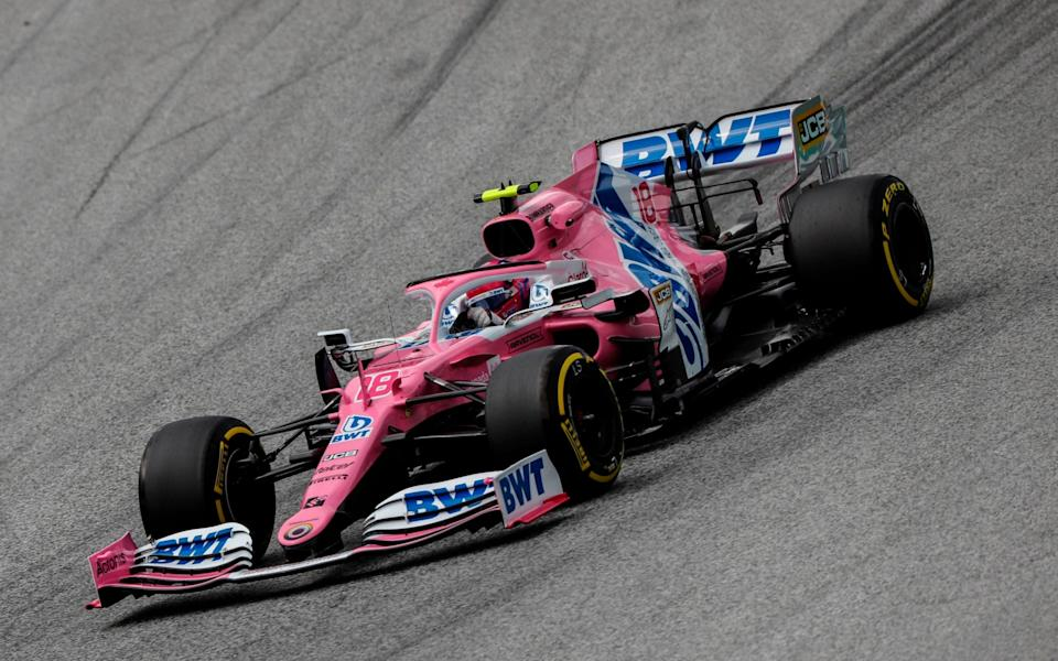 Racing Point's Canadian driver Lance Stroll steers his car during the second practice session at the Austrian Formula One Grand Prix on July 3, 2020 in Spielberg, Austria. - Seven months after they last competed in earnest, the Formula One circus will push a post-lockdown re-set button to open the 2020 season in Austria on July 5 - LEONHARD FOEGER/POOL/AFP via Getty Images
