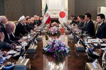 Iranian President Hassan Rouhani meets with Japan's Prime Minister Shinzo Abe, and officials in Tehran
