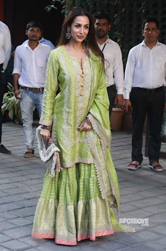 malaika arora at arpita khan sharma ganpati celebrations