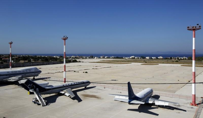 Disused aircrafts are seen on the tarmac of the old Athens' airport at Hellenikon suburb, southwest of Athens
