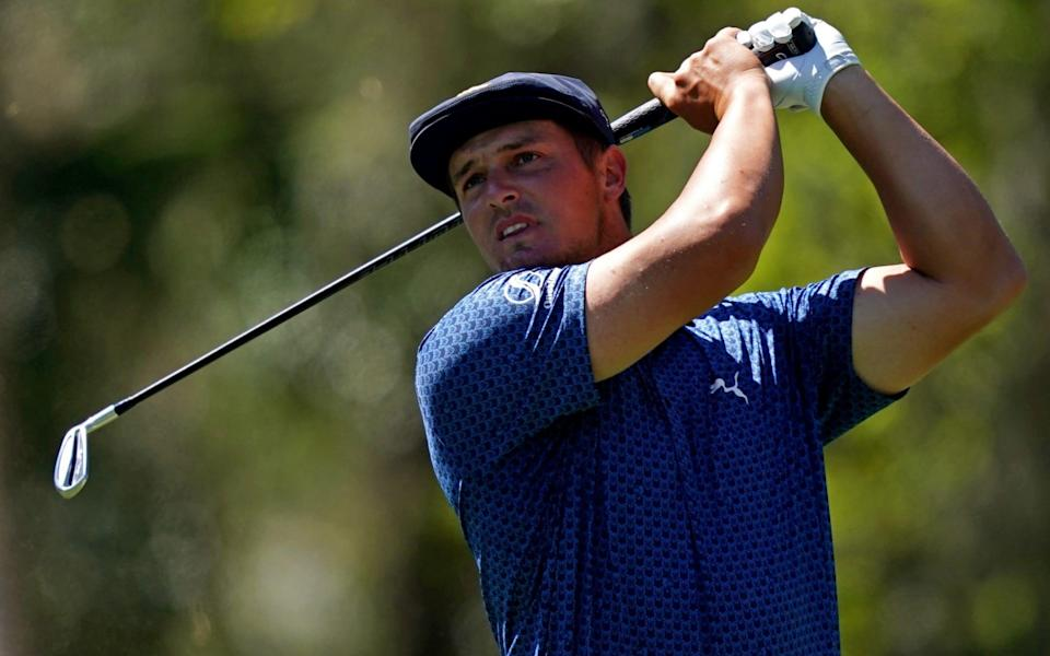 A bulked up DeChambeau has achieved ball-speeds of more than 200mph, as well as carrying one drive more than 400 yards - USA TODAY