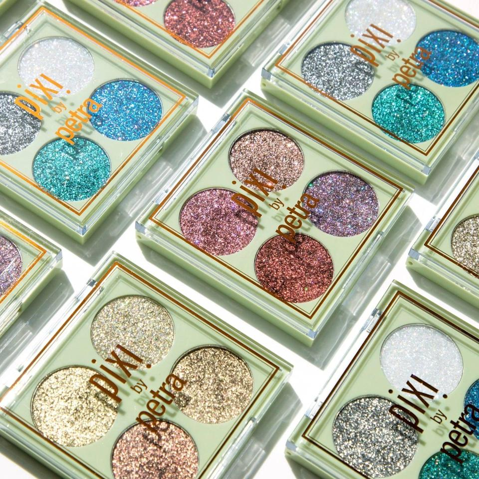 <p>The <span>Pixi by Petra Glitter-y Eye Quad</span> ($14) is perfect for adding a dash of glitter to their looks. It's long wearing and won't crease. </p>