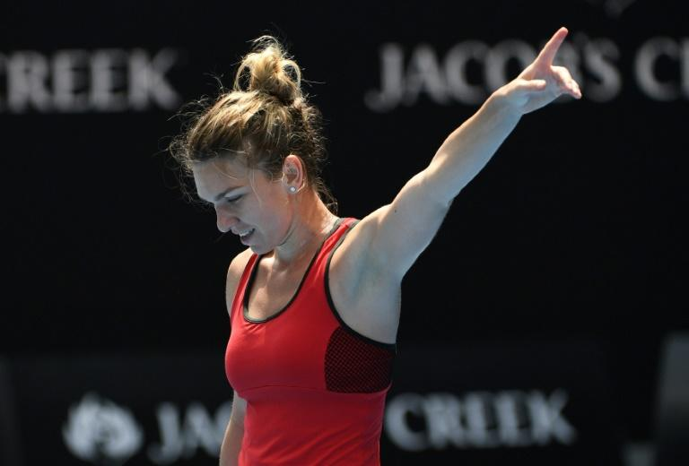 "Romania's Simona Halep says ""I'm almost dead,"" after saving three match points to survive a titanic struggle against Lauren Davis of the US in their third round matchat the Australian Open"