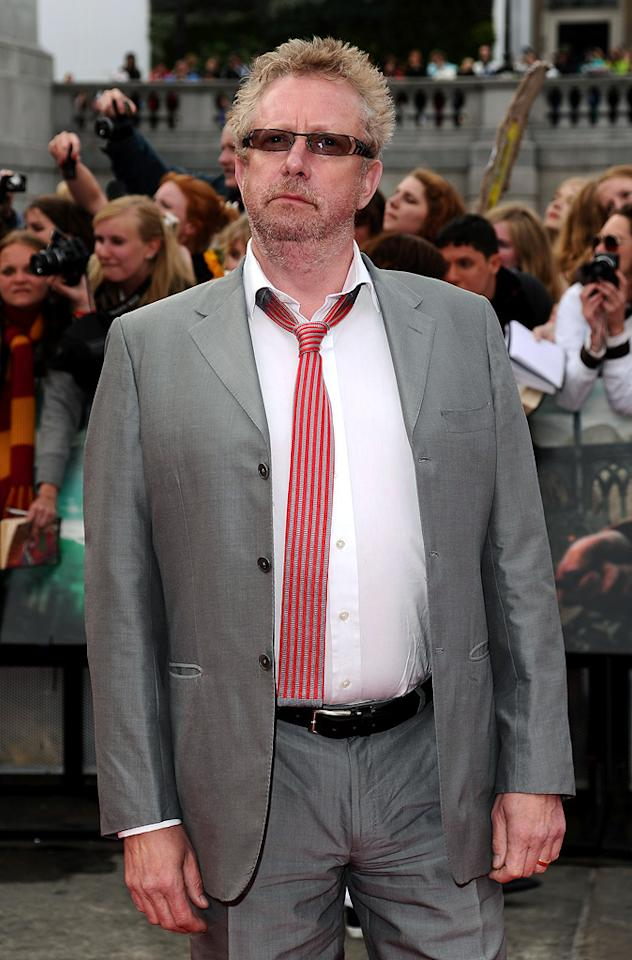 """<a href=""""http://movies.yahoo.com/movie/contributor/1808876320"""">Mark Williams</a> at the London world premiere of <a href=""""http://movies.yahoo.com/movie/1810004624/info"""">Harry Potter and the Deathly Hallows - Part 2</a> on July 7, 2011."""