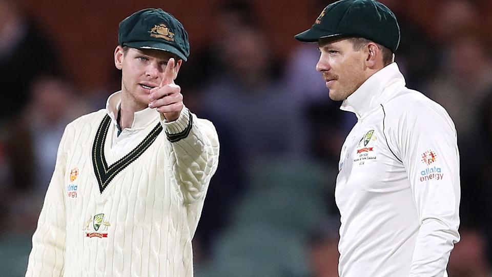 Steve Smith and Tim Paine, pictured here during a Test match against Pakistan in 2019.