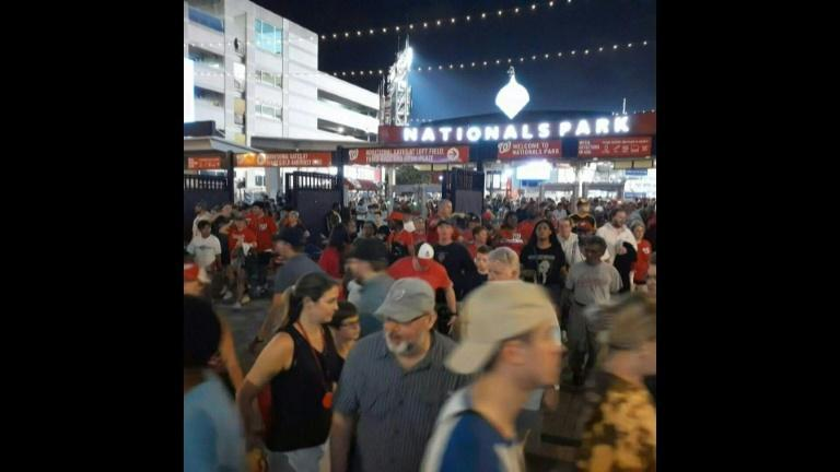 Washington: People leave Nationals Park stadium due to shooting incident outside