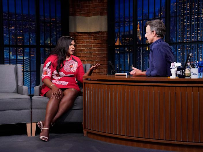 """Mindy Kaling appeared on """"The Tonight Show With Seth Meyers."""""""