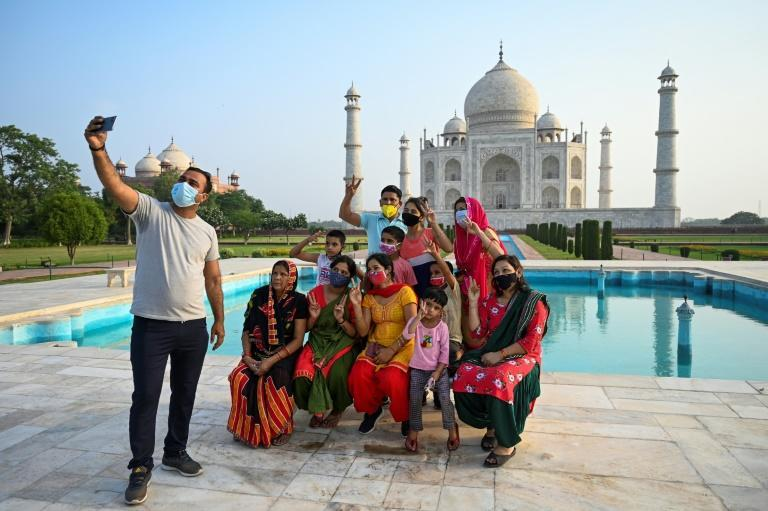 The Taj Mahal has reopened to visitors as India loosened restrictions following an easing of the country's coronavirus surge