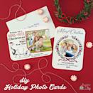 """<p>Make your own beautiful photo cards using a trio of free printable designs, a simple paper trimmer, and a little bit of glitter glue. </p><p><em>Get the tutorial at <a href=""""https://www.craftingcheerfully.com/diy-holiday-photo-cards/"""" rel=""""nofollow noopener"""" target=""""_blank"""" data-ylk=""""slk:Crafting Cheerfully"""" class=""""link rapid-noclick-resp"""">Crafting Cheerfully</a>.</em> </p><p><a class=""""link rapid-noclick-resp"""" href=""""https://www.amazon.com/Tassel-Toppers-Pack-Non-Toxic-Decorating/dp/B071HTTNFV?tag=syn-yahoo-20&ascsubtag=%5Bartid%7C10072.g.34351112%5Bsrc%7Cyahoo-us"""" rel=""""nofollow noopener"""" target=""""_blank"""" data-ylk=""""slk:SHOP GLITTER GLUE"""">SHOP GLITTER GLUE</a></p>"""