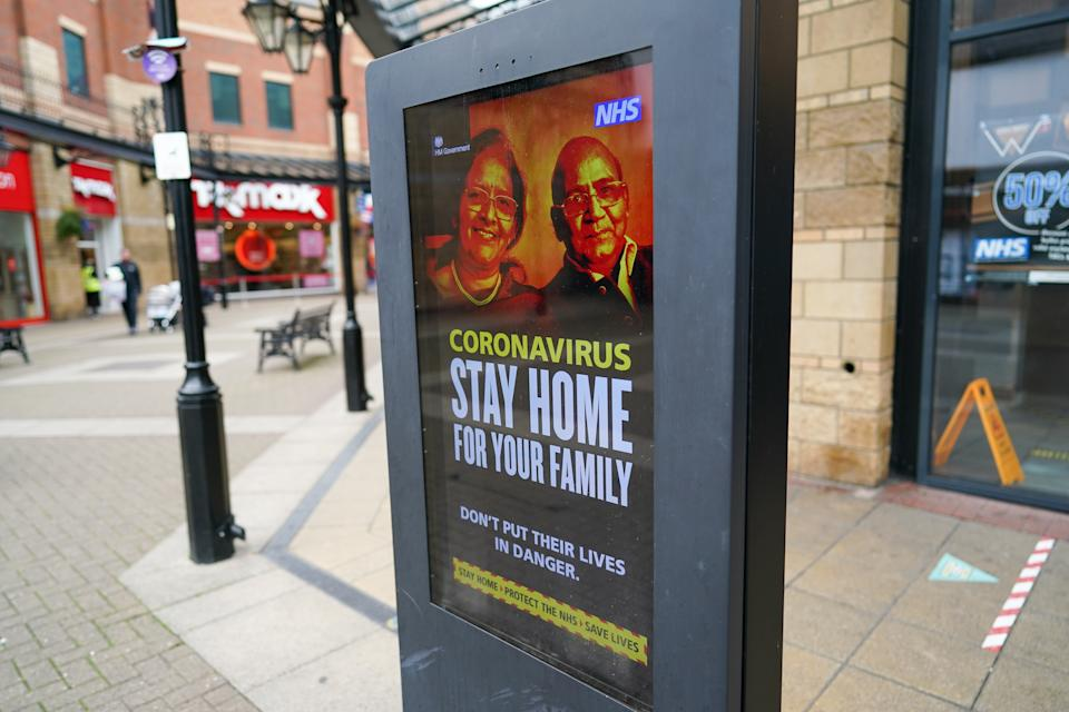A coronavirus information board displays government advice in Middlesbrough on the eve of a local lockdown being imposed (Ian Forsyth/Getty Images)