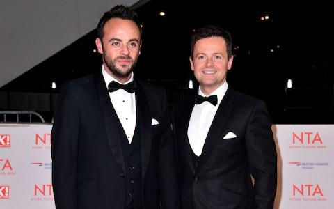 Anthony 'Ant' McPartlin and Declan 'Dec' Donnelly (right) attending the National Television Awards 201 - Credit: PA