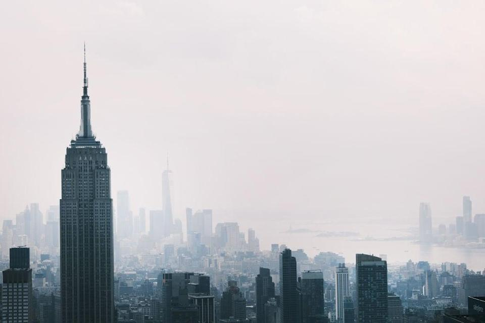 The  Manhattan skyline continues to sit under a haze on 21 July (Getty Images)