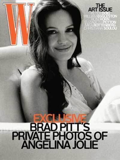Angelina Jolie was photographed nursing on the cover of W magazine in November 2008.