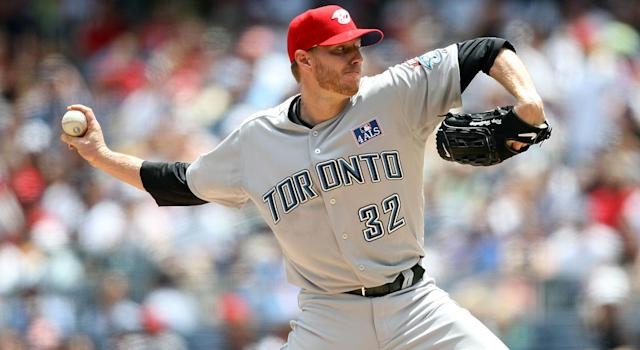 Former Blue Jays legend Roy Halladay died in a plane crash on Tuesday. (Photo by Nick Laham/Getty Images)