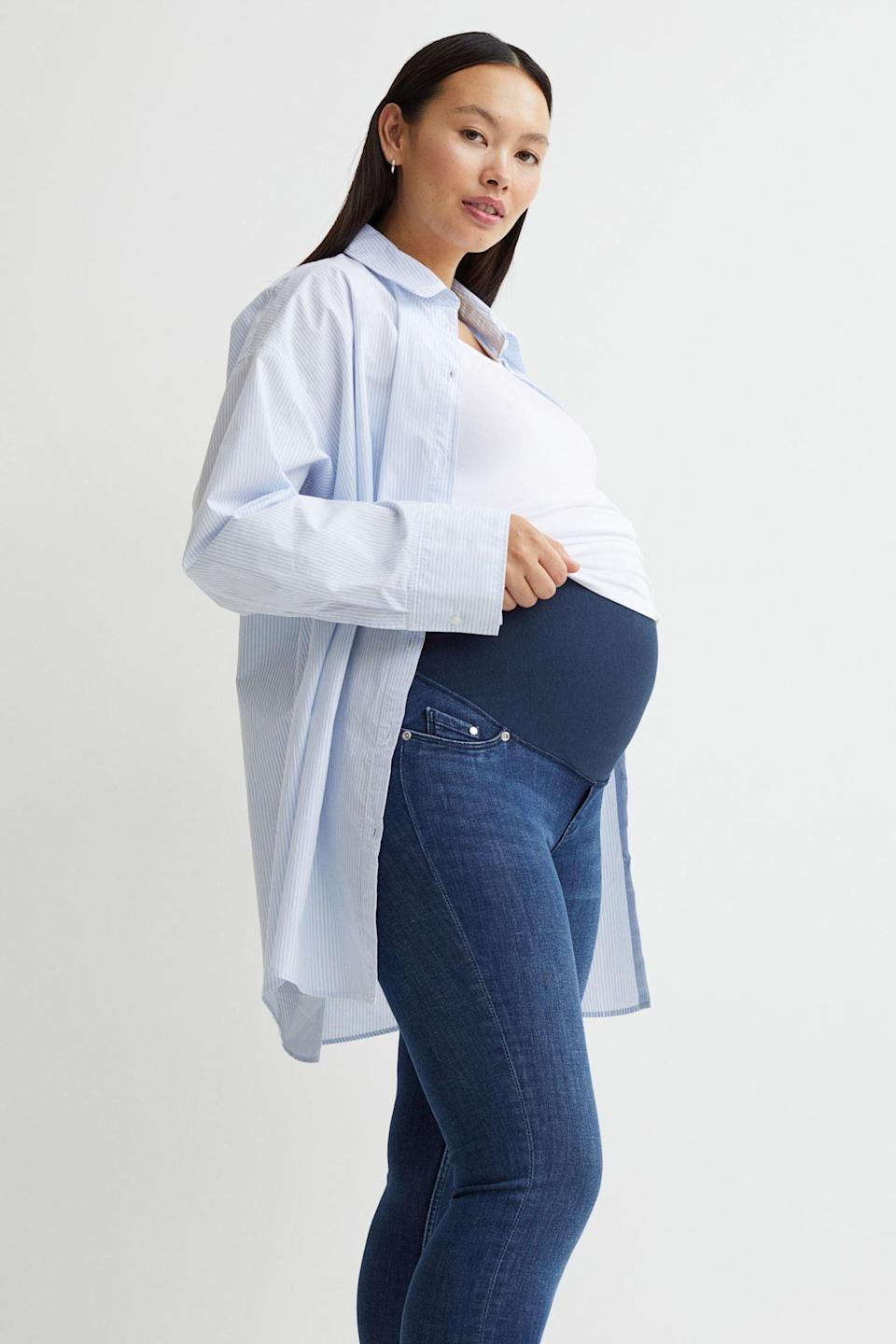 <p>These <span>MAMA Super Skinny Jeans</span> ($35) are the best way to wear jeans while growing a little one. They offer a stretchy fabric that will cover the belly, and provide ample comfort. </p>