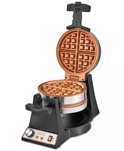 <p>Small indulgences make a huge differences for new parents. The <span>Crux Double Rotating Waffle Maker</span> ($115) means they can take a moment for themselves and break out of the usual cereal rut. </p>