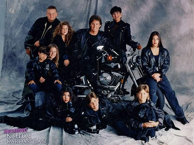 While this was years before Kim was running around with Karl Lagerfeld and Riccardo Tisci, you can still see the pain in her eyes over having to wear ill-fitting, matching motorcycle jackets with the male-heavy Jenner clan.