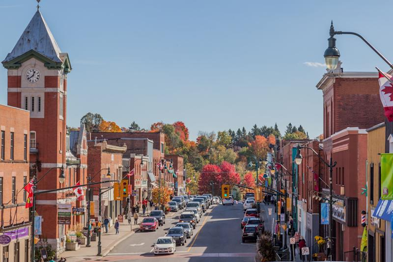 "Bracebridge, Ont., a town in the ""cottage country"" north of Toronto, is seen in this stock photo taken Oct. 15, 2016. (Photo: JHVEPhoto via Getty Images)"