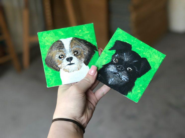 Two of Rylee Black's pet portraits