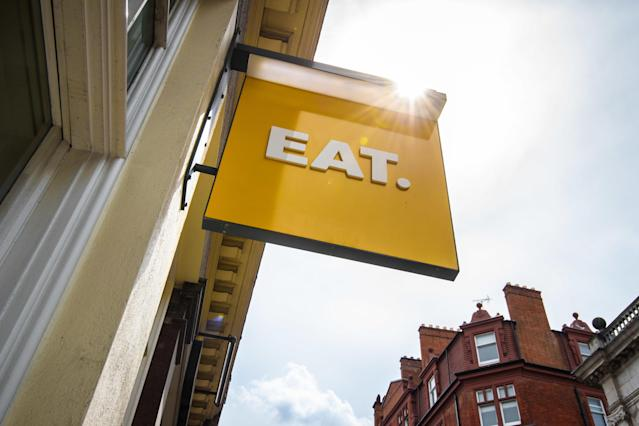 General view of an EAT branch in St Martin's Lane, London. Picture date: Wednesday May 22, 2019. Photo credit should read: Matt Crossick/Empics