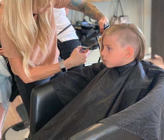 Pink and Carey Hart's daughter rocking a cool new haircut. Photo: Instagram/Hart Luck