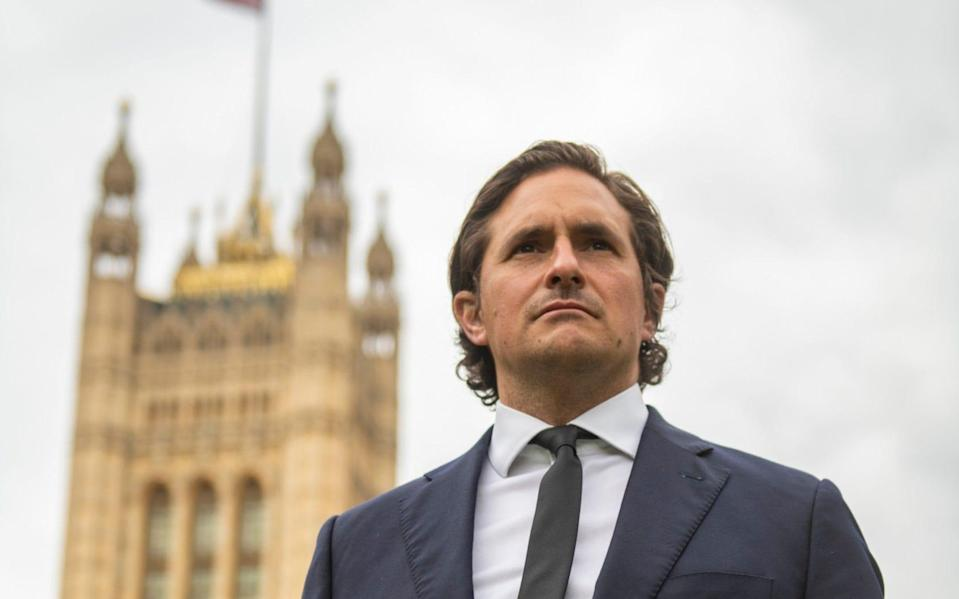 """Tory MP Johnny Mercer who was """"forced"""" to resign as a defence minister, by number 10, over the treatment of veterans who served in Northern Ireland. - Geoff Pugh for The Telegraph"""