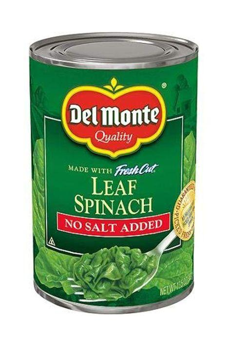 "<p>If your spinach always goes bad before you get a chance to eat it, canned spinach is the way to go. Canned spinach actually contains <a href=""https://healthland.time.com/2012/04/23/fresh-vs-canned-can-you-get-healthy-food-from-a-can/slide/spinach/"" target=""_blank"">more vitamin c per serving</a> than its fresh counterpart! </p>"
