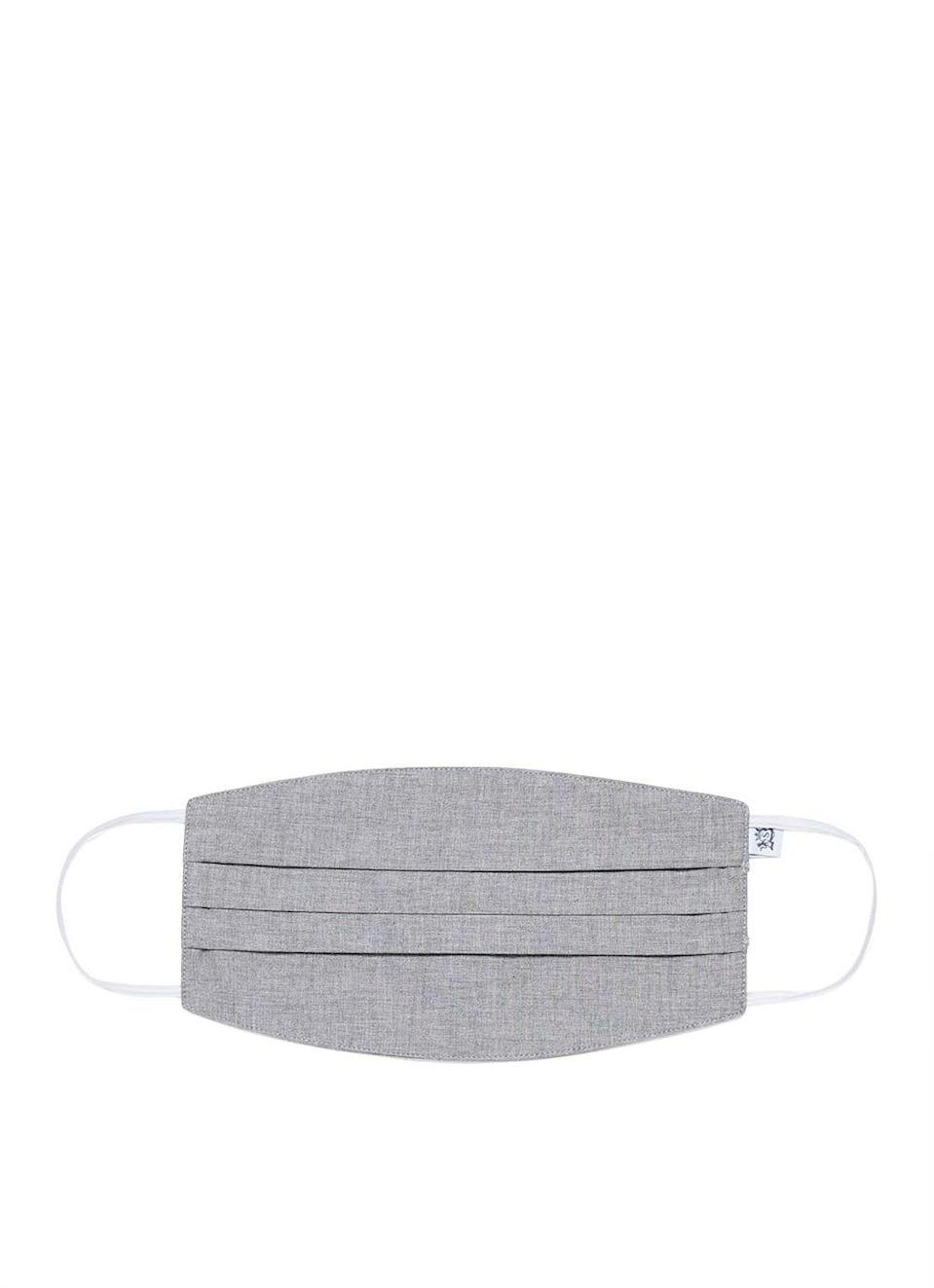 """<p>sunspel.com</p><p><strong>$15.00</strong></p><p><a href=""""https://www.sunspel.com/us/sunspel-cotton-face-mask-in-mid-grey-melange.html"""" rel=""""nofollow noopener"""" target=""""_blank"""" data-ylk=""""slk:BUY IT HERE"""" class=""""link rapid-noclick-resp"""">BUY IT HERE</a></p><p><a href=""""https://www.menshealth.com/style/a30609988/sunspel-t-shirt-review/"""" rel=""""nofollow noopener"""" target=""""_blank"""" data-ylk=""""slk:One of our go-to T-Shirt brands"""" class=""""link rapid-noclick-resp"""">One of our go-to T-Shirt brands</a> is now producing face masks with with an anti-bacterial inner lining. The brand has already donated 500 masks to those in need in Yorkshire, England and will continue to donate another 7,500 masks. </p>"""