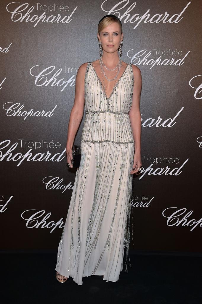 Charlize Theron was a goddess in Prada.