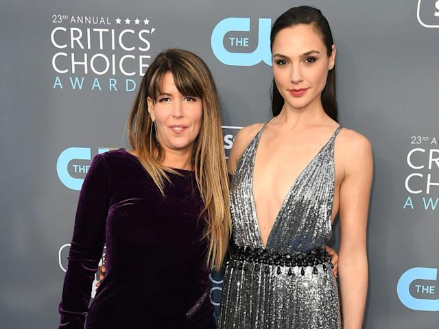 Patty Jenkins and Gal Gadot arrive at the The 23rd Annual Critics' Choice Awards