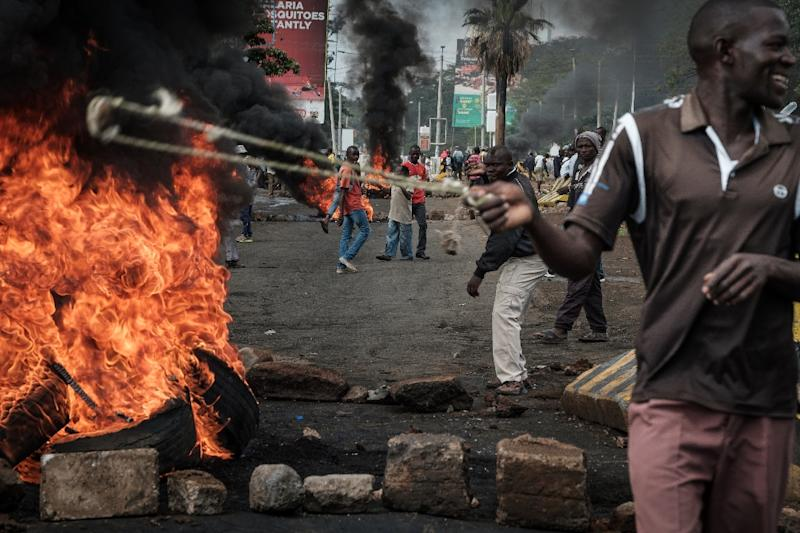Chaos also erupted in the western Kenyan city of Kisumu, which was also hit by violent protests earlier this week (AFP Photo/YASUYOSHI CHIBA)