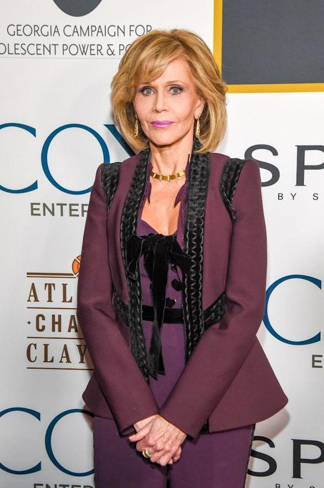 "Jane Fonda attends this month's ""Eight Decades of Jane"" charity fundraiser in her honor on Dec. 8 in Atlanta. (Photo: Rick Diamond/Getty Images for GAACP)"