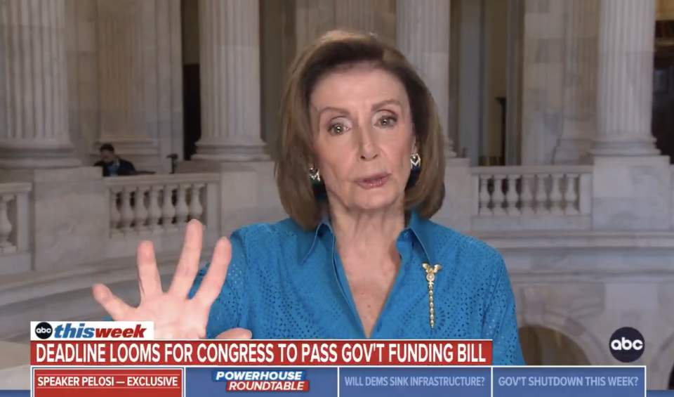 House Speaker Nancy Pelosi discusses the debt limit in an interview. (Screenshot: Twitter/@ThisWeekABC)