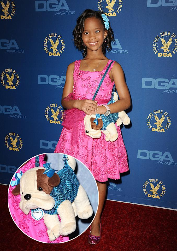 Quvenzhané Wallis is known for her red carpet puppy purses. She told Yahoo! that she's planning a custom creation for the Oscars.